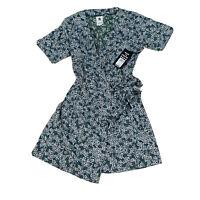 Element BNWT Green Floral Wrap Dress Women's Size 12