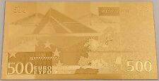 500 euro or billet, 24 carats, 99,9 Gold