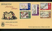 Postal History Bermuda FDC #380-384 Map cartography 1979