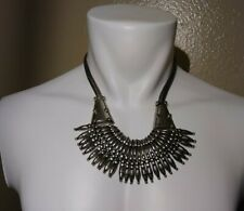 Full tilt medal necklace heavy spikes one size fits all adjustable gothic style