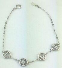 "Zircon Sterling Silver Fine Bangles 7 - 7.49"" Length"