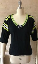 Zumba Black And Green - American Football Style Workout Top - Size M
