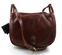 Borsa donna pelle tracolla a spalla marrone vera pelle hobo bag made in Italy