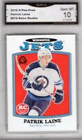GMA 10 Gem Mint PATRICK LAINE 2016/17 OPC O-Pee-Chee *RETRO* ROOKIE CARD JETS!