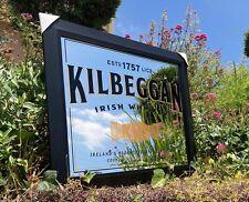 Kilbeggan Irish Whiskey Beer Bar Mirror Man Cave Pub New Wagon