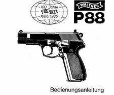 Walther P88 9mm Owners Instruction and Maintenance Manual - English & German