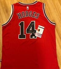 CRAIG HODGES SIGNED Autographed CHICAGO BULLS BASKETBALL JERSEY Photo PROOF JSA