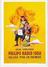 Reproducción antigua publicidad CONCURSO PHILIPS RADIO 1950