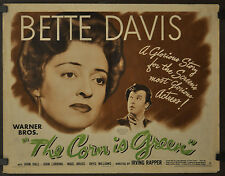 THE CORN IS GREEN 1945 ORIGINAL 22X28 MOVIE POSTER BETTE DAVIS JOHN DALL