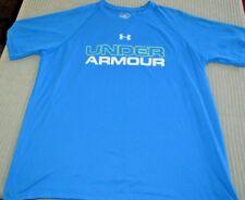 Mens size Large Underarmour Heat Gear Bright Blue S/S shirt