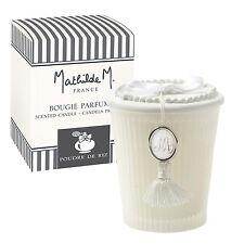"""COFFRET BOUGIE PARFUMEE INTEMPORELS PARFUM """"POUDRE DE RIZ"""" EN VERRE MATHILDE M"""
