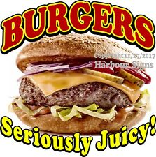 Burgers Decal (Choose Your Size) Food Truck Concession Vinyl Sign Sticker