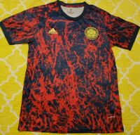 NEW AWAY BLUE/RED MEN'S COLOMBIA SOCCER JERSEY. SIZE L . FUTBOL. RARE TO GET