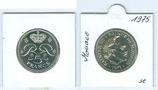 Monaco  5 Francs 1975  Fürst Rainier III.  stempelglanz  Nur 8.000 Stück!