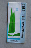Vintage 1960s Booklet Fold Out Map Pennsylvania State Parks