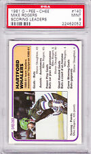 1981 - 82 OPC #140 MIKE ROGERS SCORING LDR PSA 9 MINT o-pee-chee Hartf WHALERS