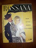 ROSSANA - MODA MAGLIA BELLEZZA ARREDAMENTO,MODA BAZAR N.11 ANNO:1959 (DO)