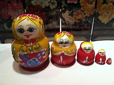 russian nesting doll Set Of 5 Hand made 4 inchs tall Us Seller