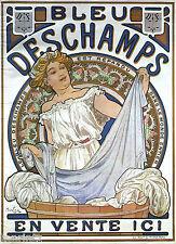 A0 Large french art deco Nouveau Vintage print poster DESCHAMPS