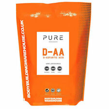 Pure D-Aspartic Acid Powder Natural DAA Testosterone Booster 100g Pouch Free P&P
