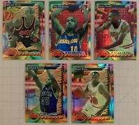 1993 Finest Refractors Lot of 5 Different Basketball Cards in Mint Condition