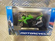 Modellini statici di moto e quad verde WELLY per Kawasaki