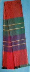 """Beautiful Traditional Soft Wool Classic Tartan Plaid Scarf Muffler 12"""" W x 54"""" L"""