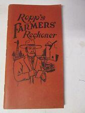 VINTAGE 1919 ROPP's Farmer's Reckoner NOS