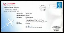 More details for loganair 1989 stornaway-glasgow 1st flight cover sgd pilot & 1st official ws9894
