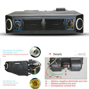 Car Truck Under Dash Air Conditioner A/C Evaporator Kit Cooling Unit 12V 3 Speed