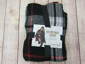 Balance Collection Women's Reversible Wrap One Size Plaid  NWT
