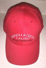 New listing Cahuilla Creek Anza Ca Red ball cap baseball hat casino players club souvenir