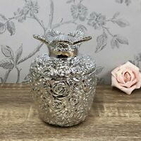 Silver Pineapple Jewellery | Trinket Pot Jar Ornament 42024