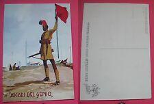 CARTOLINA COLONIALE GENIO MILITARE DELLA SOMALIA ITALIANA - ASCARI DEL GENIO