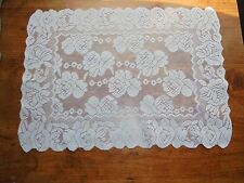 """White Lace Doily Floral Pattern Home Decor Table Collectible 18"""" x 12"""""""