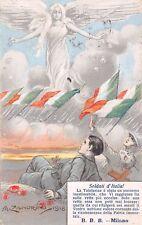 1833) WW1 SOLDATI D'ITALIA TELEFERICA B.B.B. MILANO, ILLUSTRATORE ZANDRINO. VG.