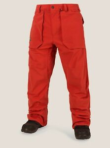 NWT MENS VOLCOM STRETCH GORE-TEX PANT $340 L Burnt Orange snowboard