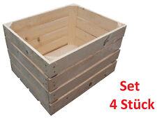 4 Stück NEUE natur Holzkisten Obstkisten Apfelkisten Weinkiste TOP - 4er Set