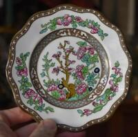 LOVELY COALPORT INDIAN TREE BREAD PLATE #2 WITH SINGLE BROWN CROWN HALLMARK HV 7