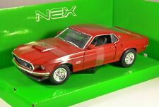 1969 FORD MUSTANG BOSS 429 in Red 1/24 scale model by WELLY
