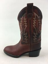 Old West Style 1152 Western Boots Kids Size 10, Brown Leather 3455