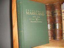 Settlers of Maryland 1751-1765 Genealogy Book