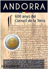 2 Euro Sondermünze/Gedenkmünze Andorra 2019 Consell de la Terra
