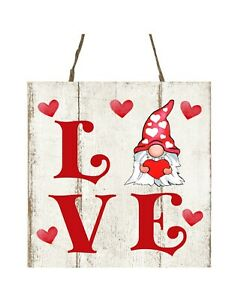 Love Each Moment Wood Decor Sign Hanging Wall Decors Valentines Day Wooden Love Signs Plaque for Wedding Bedroom Living Room Table Window Door Wall Decorations