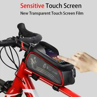 Cycling Bike Bicycle Front Top Tube Frame Pannier Front Tube Pouch Phone Holder