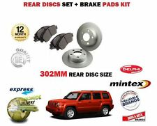 Para Jeep Patriot 2.0 2.2 2.4 2006 - > 302MM Discos De Freno Trasero Conjunto + Kit De Pastillas De Disco