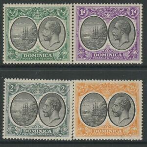 DOMINICA, MINT, #65-6,70-1, OG NH, CLEAN, SOUND & CENTERED