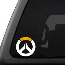 Overwatch logo - Metallic Gold & White, symbol decal sticker video game