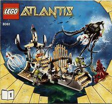 Lego Atlantis # 8061 Gateway of the Squid (2 BA) - Bauanleitung (keine Steine!)