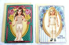 Two.Vtg 90'S.Turn Of The Century.Paper Doll.Grettings Card w Envelope.New